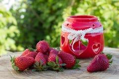 Frische natürliche Erdbeere Stockfotografie