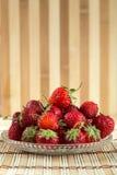 Frische nette Erdbeere Stockbilder