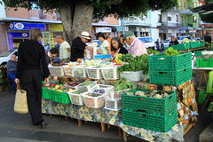 Frische Obst und Gemüse am Markt Lizenzfreie Stockbilder