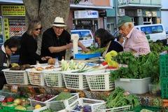 Frische Obst und Gemüse am Markt Lizenzfreies Stockbild