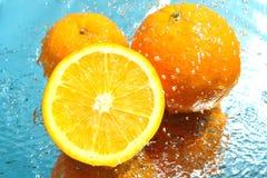 Frische Orange drei Lizenzfreies Stockfoto