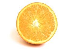 Orange Frucht auf weißem Hintergrund Stockbild