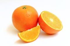 Orange Frucht auf weißem Hintergrund Lizenzfreie Stockfotografie