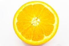 Frische Orange getrennt auf weißem Hintergrund Lizenzfreie Stockfotografie