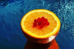 Frische orange Nahaufnahme Lizenzfreies Stockbild