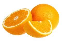 Frische Orangen getrennt Lizenzfreie Stockbilder