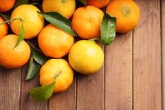 Frische organische Klementinen Lizenzfreies Stockbild