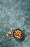 Frische organische Nüsse, Mandeln, Acajoubaum, Pistazie Stockbild