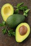 Frische organische reife Avocado Stockbild
