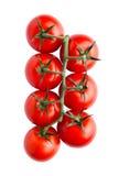Frische organische Tomaten lokalisiert auf weißem Hintergrund Lizenzfreies Stockfoto
