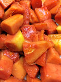 Frische Papaya Lizenzfreie Stockfotos