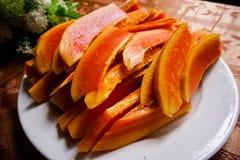 Frische Papaya Lizenzfreies Stockfoto