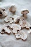 Frische Pilze schließen oben Stockbild