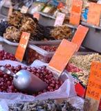 Frische Produkte angezeigt in Chinatown Lizenzfreies Stockbild