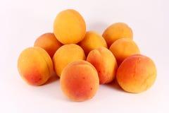 Frische reife Aprikosen Stockfoto