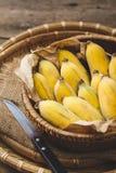Frische reife Bananen Stockfoto