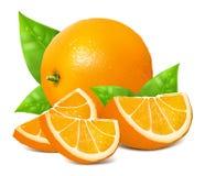 Frische reife Orangen Stockfotografie