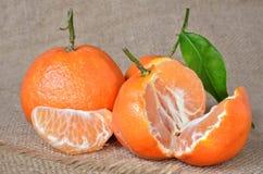 Frische, reife Zitrusfrucht, auf einem rauen Rausschmiß Lizenzfreie Stockfotografie