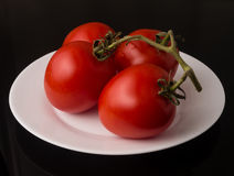 Frische rohe Tomaten Stockbild