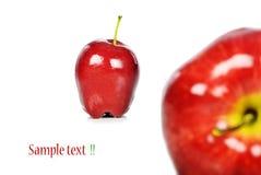 Frische rote Äpfel Stockbild