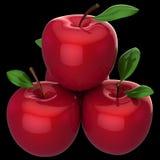 Frische rote Äpfel (Mieten) Lizenzfreie Stockfotografie