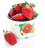 Frische rote Erdbeeren Stockfotos