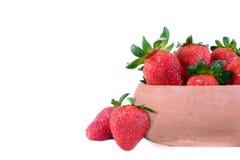 Frische rote reife Erdbeeren Lizenzfreie Stockfotos
