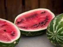 Frische rote reife Wassermelone Lizenzfreies Stockbild