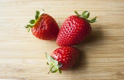 Frische süße Erdbeeren Lizenzfreies Stockbild