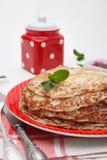 Frische süße Pfannkuchen Stockbild