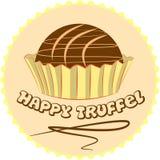 Frische Süßigkeitstrüffel in einer Folien- oder Papierschale, Illustration lizenzfreie abbildung
