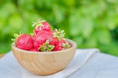 Frische saftige Frucht Erdbeere Lizenzfreies Stockbild