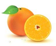 Frische saftige Orangen Stockfoto