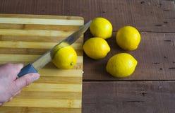 Frische saftige Zitrone auf den Salat und frisch für die Fische, Lizenzfreie Stockbilder