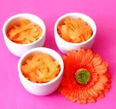 Frische Salate von Karotten Lizenzfreie Stockfotografie
