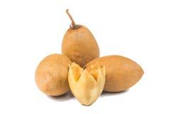 Frische Sapotillbaumfrüchte Stockbilder