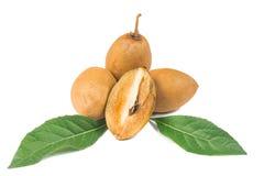 Frische Sapotillbaumfrüchte Stockfotografie
