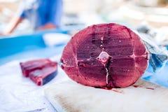 Frische Schnittfische auf Markt Lizenzfreie Stockbilder