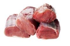 Frische Schweinelende getrennt Lizenzfreie Stockfotos