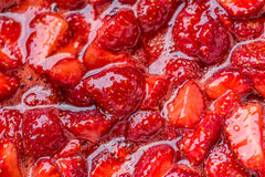Frische selbst gemachte Erdbeersoße Lizenzfreie Stockbilder