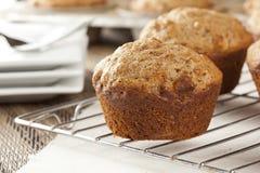 Frische selbst gemachte Kleie-Muffins stockbild