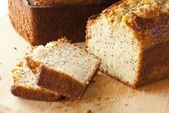 Frische selbst gemachte Poppy Seed Bread stockfotos