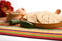 Frische selbst gemachte Tortillas Lizenzfreie Stockbilder