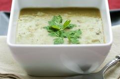 Frische Spalte-Erbsen-Suppe Stockfotografie