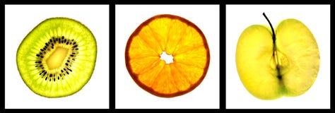 Frische Stückkiwifrucht Lizenzfreies Stockfoto