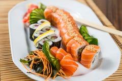 Frische Sushi Rolls Lizenzfreies Stockfoto