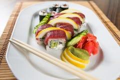 Frische Sushi Rolls Stockbild