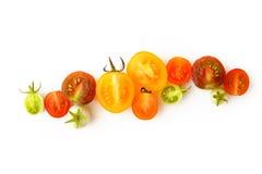 Frische Tomaten auf Weiß Stockbilder