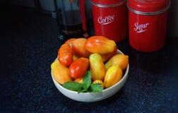Frische Tomaten des Gartens Stockfoto