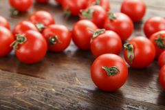 Frische Tomaten Es kann als Hintergrund verwendet werden Selektiver Fokus Stockbild
